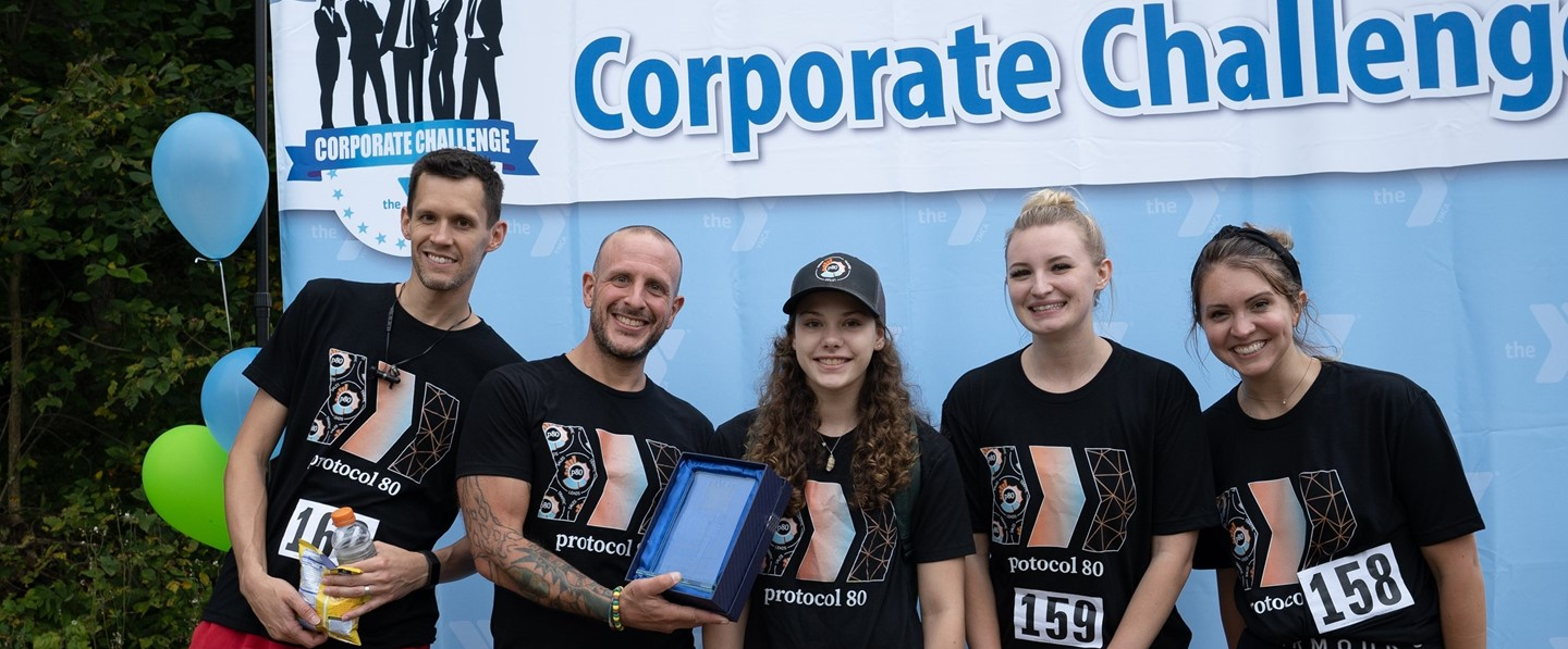 five runners at the corporate challenge 5k