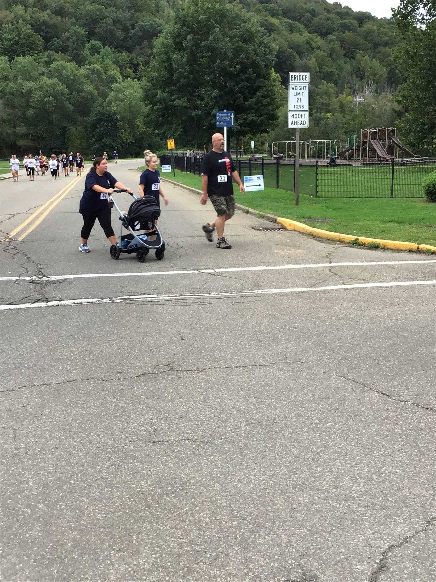 various runners on the street during 5K