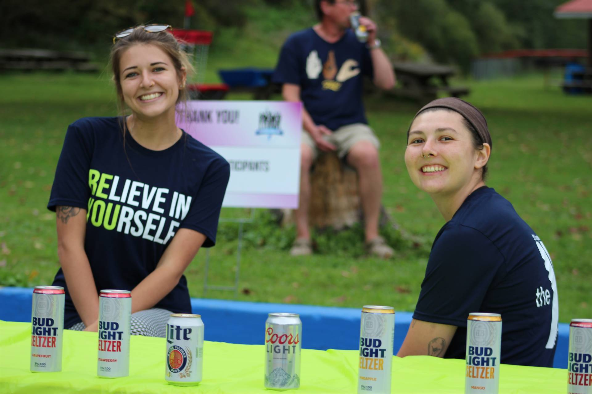 staff handing out beverages