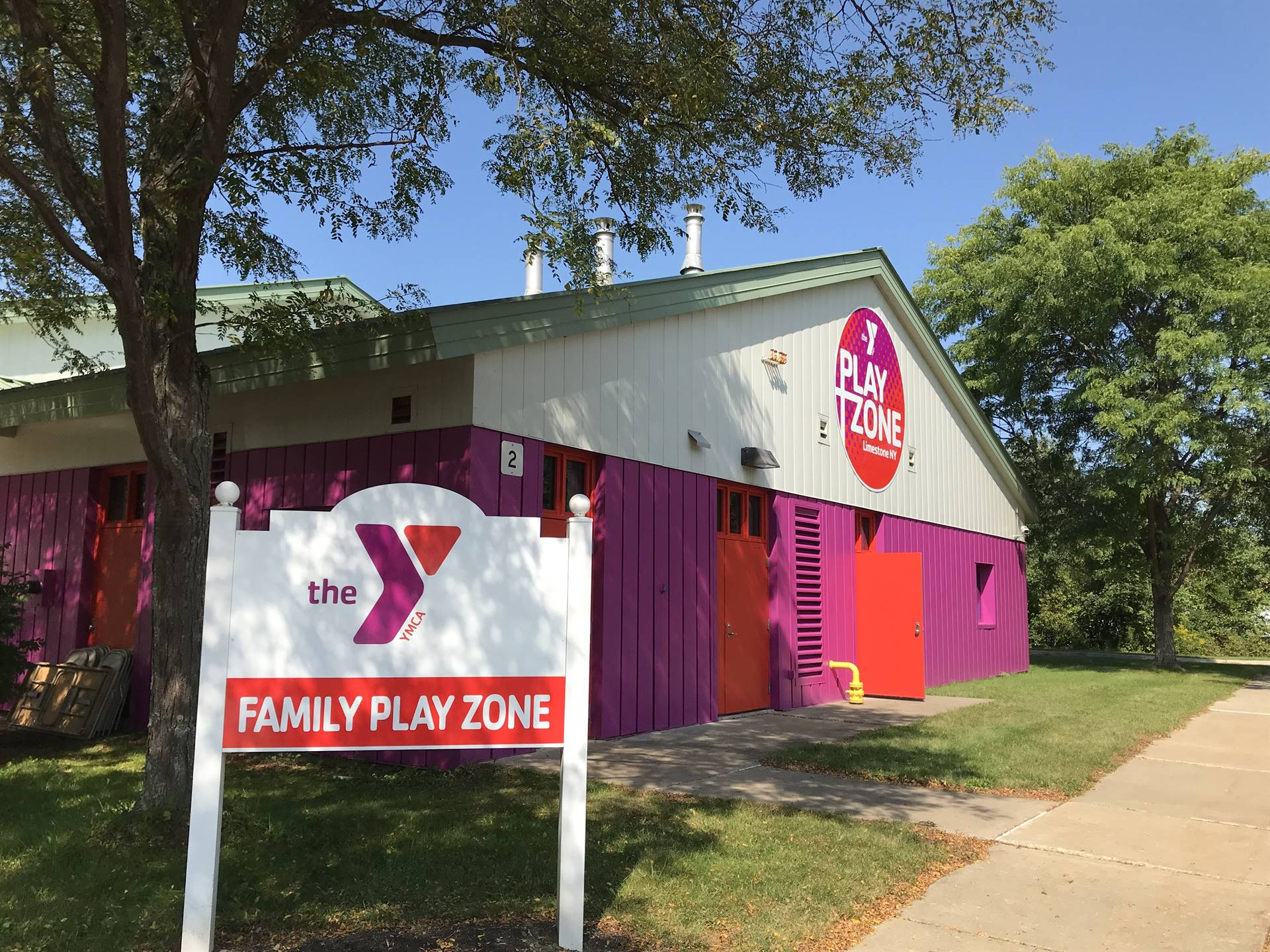 front of play zone building