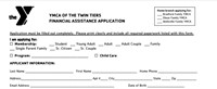 image of top of financial assistance application