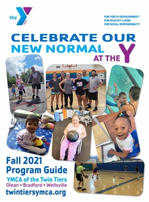 Cover image of fall 2021 program guide for YMCA of the Twin Tiers