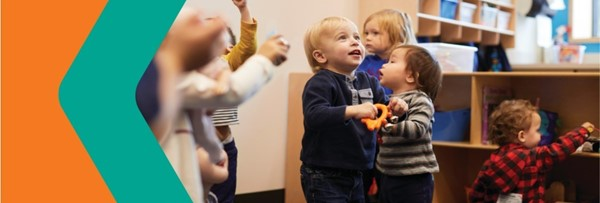 pre school children in class, text reads FREE pre-K Program