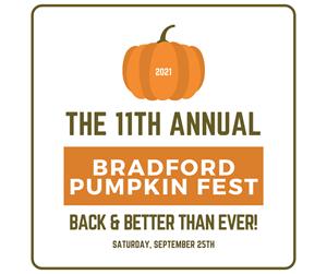 pumkin, text reads:  Pumpkin Fest, September 25th